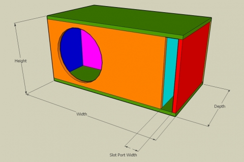 Labyrinth Vent Bass Reflex Enclosure Calculator - Full View