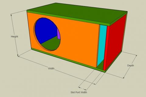 L-Slot Vent Bass Reflex Enclosure Calculator - Full View
