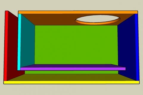 L-Slot Vent Bass Reflex Enclosure Calculator - Layout View