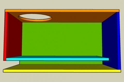 Off-Axis Bass Reflex Enclosure Calculator - Full View