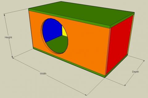 Acoustic Suspension Enclosure Calculator - Full View